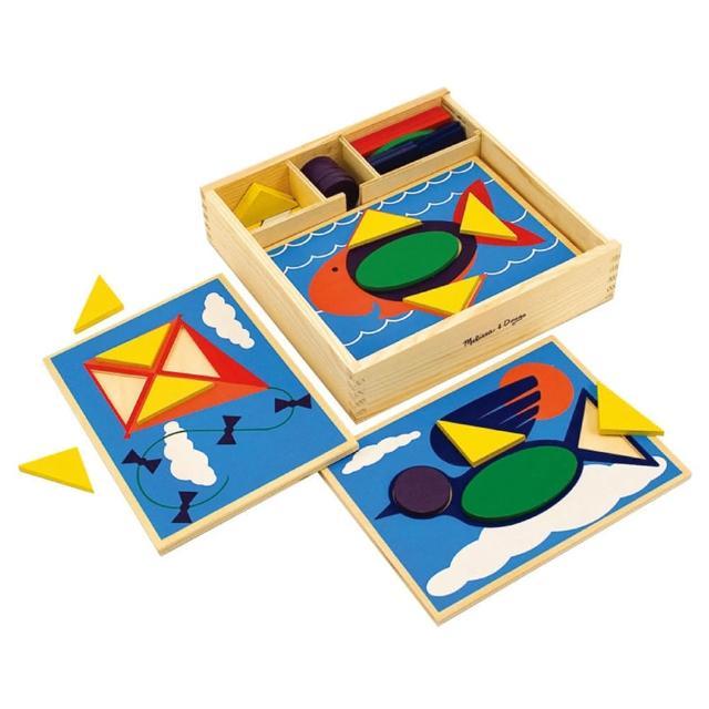 【Melissa & Doug 瑪莉莎】七巧板 益智遊戲 空間方位幼兒園保姆(益智成長 邏輯建構 原裝進口)