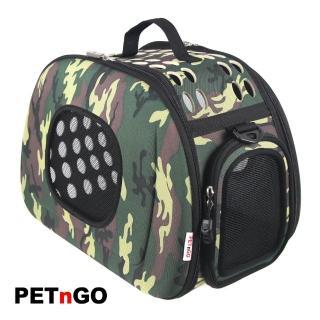 【PETnGO】透氣網窗寵物提包(迷彩)