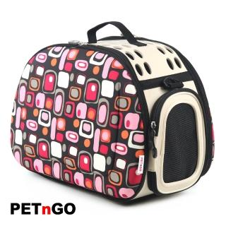 【PETnGO】輕巧摺疊寵物提包(紫豹紋)