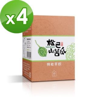 【朝陽生機】松巴山苦瓜 機能茶飲(山苦瓜茶 15包/盒 4入組)