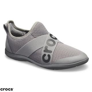 【Crocs】女鞋 女士激浪束帶鞋LOGO款(205416-019)