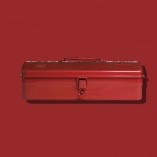 【Trusco】山型單層工具箱-鉻紅(單層工具箱)