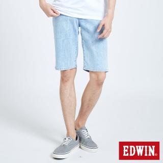 【EDWIN】EDGE涼感短褲-男款(重漂藍)