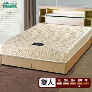 【IHouse】Minerva 卡利亞里 冬夏兩用透氣涼蓆連結硬式床墊(雙人5x6.2尺)