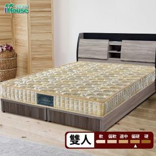 【IHouse】Minerva 福賈 護脊加強律動棉高碳鋼硬式連結床墊(雙人5x6.2尺)