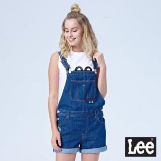 【Lee】牛仔吊帶短褲/SMU(中藍洗水色)