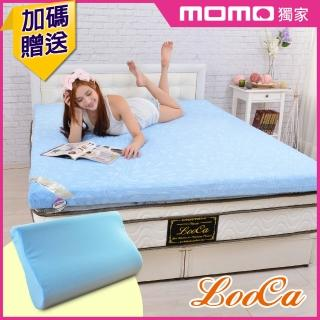【送記憶枕x1】花焰超透氣8cm彈力記憶床墊(單大3.5尺)