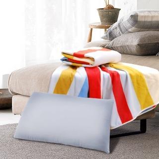 【采棉居】竹炭枕、條紋四季毯(超值組)