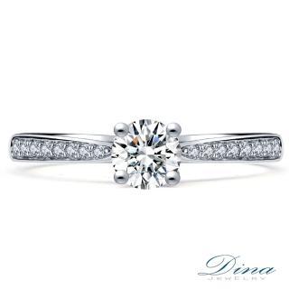 【DINA 蒂娜珠寶】滿愛入心 GIA 0.34克拉 D 3EX 求婚女戒(鑽石戒指)