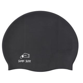 【SAIN SOU 聖手牌】顆粒矽膠泳帽(A35001)