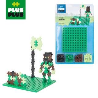 【BabyTiger 虎兒寶】++PLUS-PLUS 加加積木 MINI 小顆粒-彩虹系列(70PCS 軍人+創作底板)