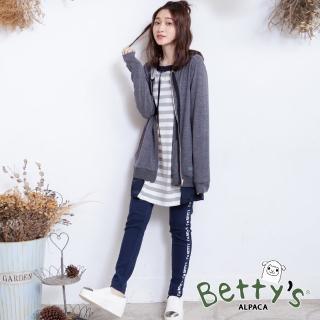 【betty's 貝蒂思】側印英文鬆緊棉褲(深藍)