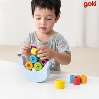 【goki】海豚堆堆(可愛木製桌遊)
