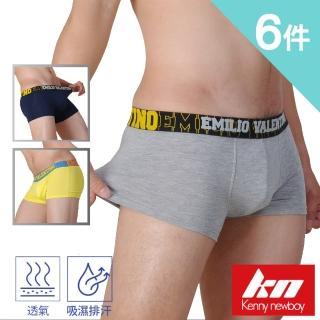 【MORRIES 莫利仕】6件組-立體中低腰嫘縈男四角褲.吸排健康棉(時尚大膽對色貼身內褲KN651)