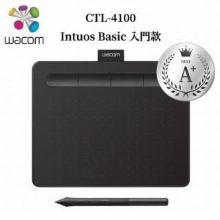 【Wacom】福利品★Intuos Basic 入門繪圖板-黑(CTL-4100/K0-C)