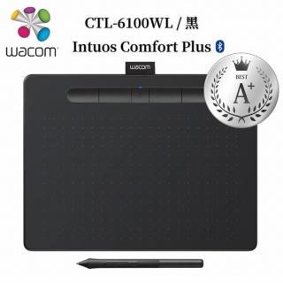 【Wacom】福利品★Intuos Comfort Plus Medium 藍牙繪圖板-黑色(CTL-6100WL/K0-C)