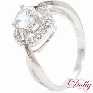 【DOLLY】心動時刻 晶鑽銀飾戒指