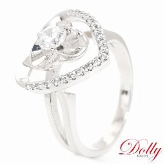 【DOLLY】心願 晶鑽銀飾戒指