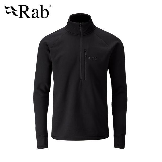 【英國 RAB】Power Stretch Pro Pull-On 保暖排汗衣 男款 黑色 #QFE62(保暖排汗衣)