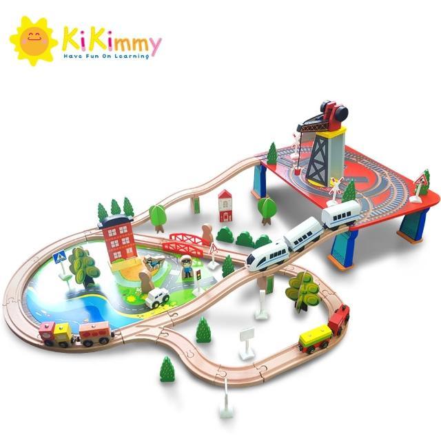 【kikimmy】城市木製電動軌道車組(88件組)