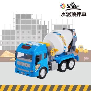 【Slider】聲光磨輪工程車(水泥預拌車)