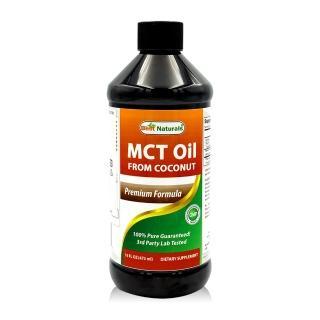 【美國BEST NATURALS】中鏈MCT油 -C8/C10-1瓶(473毫升-生酮、防彈飲食、防彈咖啡)