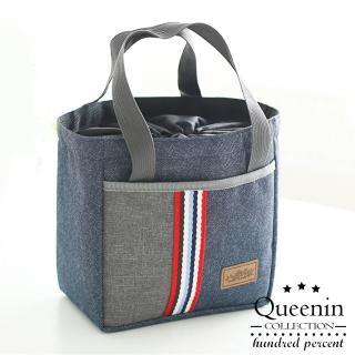 【DF Queenin】輕巧日系束口保溫保冰手提便當袋