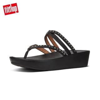 【FitFlop】LINNY CRISS CROSS TOE-THONG SANDALS - CRYSTAL(黑色)