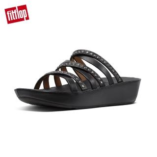 【FitFlop】LINNY SLIDE SANDALS - CRYSTAL(黑色)