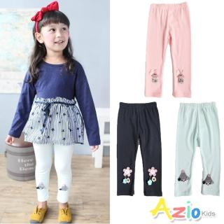 【Azio Kids 美國派】女童 內搭褲 珠珠小蜜蜂/三色花朵/娃娃圖樣內搭長褲(共3款)