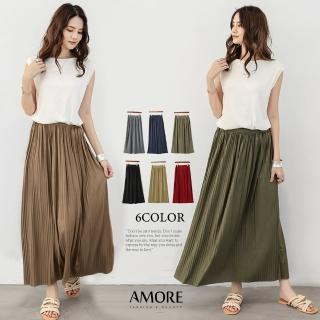 【Amore】韓國超人氣百摺氣質長裙(時尚氣質百搭裙著)