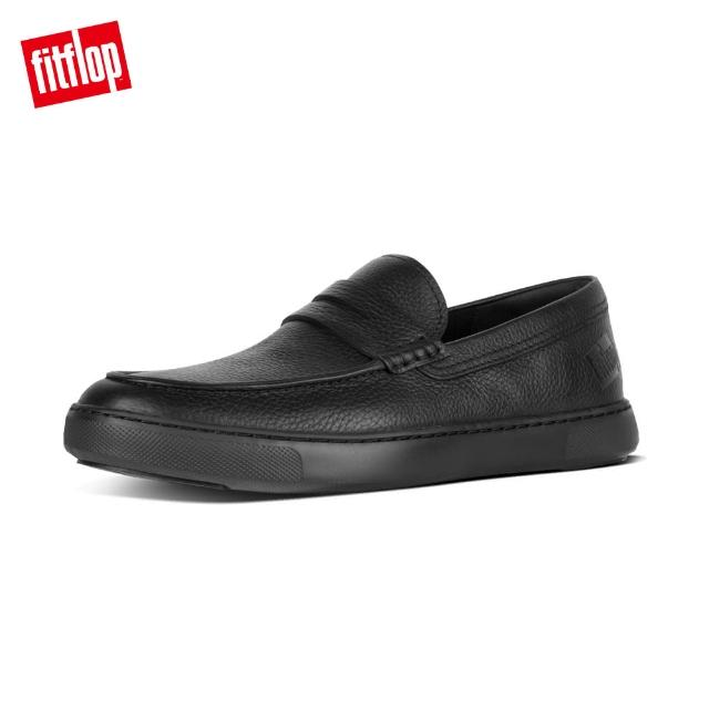 【FitFlop】BOSTON LEATHER LOAFERS(黑色)