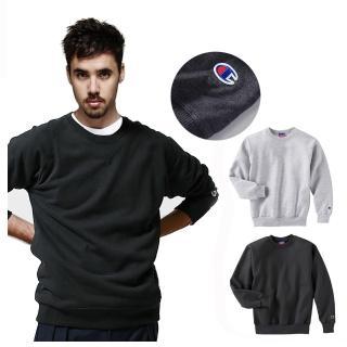 【Champion】潮牌CHAMPION BASIC冠軍圓領大學T 高磅 保暖刷毛