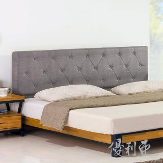 【優利亞】拉姆斯工業風 雙人5尺床組 床頭片+床底