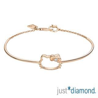 【Just Diamond】18K玫瑰金鑽石手環-Hello Kitty 愛戀貓語