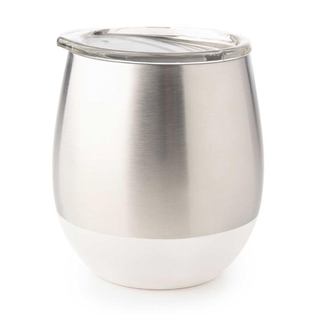 【美國 U Konserve】雙層保溫不鏽鋼杯(無暇純白)