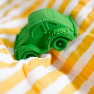 【西班牙Oli & Carol】摩登小金龜車-綠色(沐浴玩具)