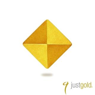 【Just Gold 鎮金店】搖滾鉚釘系列 黃金單耳耳環-純金-小
