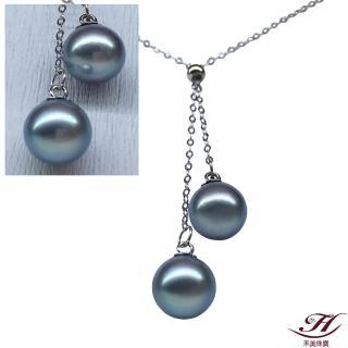 【禾美珠寶】天然AKOYA真多麻雙珠調節項鍊BS078(18K金)