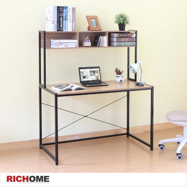 【RICHOME】簡約時尚雙層書桌