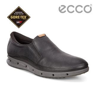 【ecco】ECCO COOL MENS 360度環繞防水休閒懶人鞋 男(黑 83135401001)