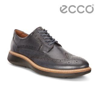 【ecco】ECCO LHASA時尚雕花魅力風格紳士正裝鞋 男(藍 60085401086)