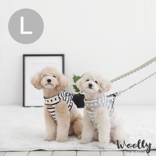 【Woolly】韓系狗狗胸背帶-附牽繩 L(胸背帶/牽繩)