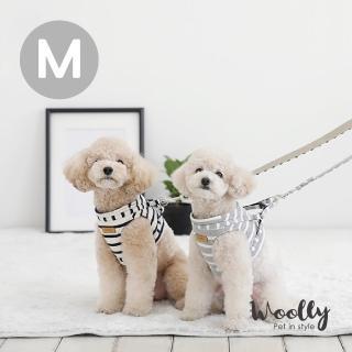 【Woolly】韓系狗狗胸背帶-附牽繩 M(胸背帶/牽繩)