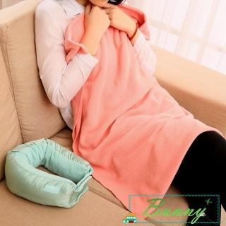 【Bunny】旅行三合一護頸U型枕多功能毛毯