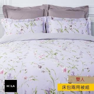 【HOLA】HOLA 芳妍純棉床包兩用被組 雙人