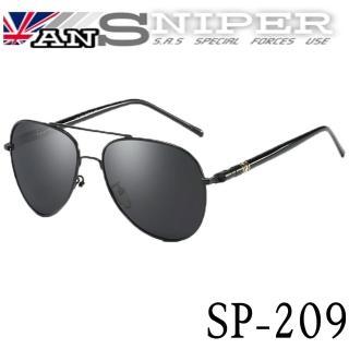 【英國ansniper】抗UV航鈦合金雷朋式偏光鏡SP-209/夜鶯黑/RORON英國系列(雷朋式偏光鏡)