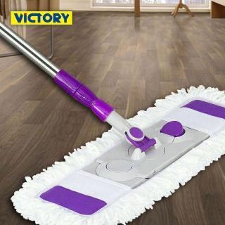 【VICTORY】乾濕兩用扣式大平板拖把(1拖3布)