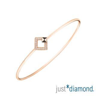 【Just Diamond】女神之吻系列 18K玫瑰金鑽石手環-Athena kiss 雅典娜之吻
