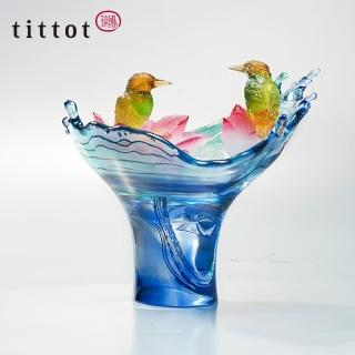 【tittot 琉園】荷諧自得 琉璃 擺飾(琉璃)